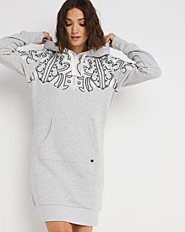 Superdry Bohemian Sweat Hoodie dress