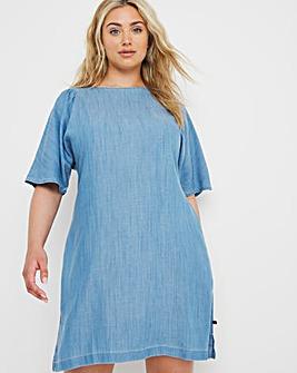 Superdry Denim T Shirt Dress