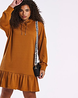 Little Mistress Ruffle Hem Sweat Dress