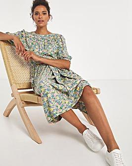 Cath Kidston Puff Sleeve Midi Dress