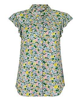 Cath Kidston Frill Sleeve Shirt