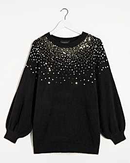 Lovedrobe Scatter Sequin Jumper