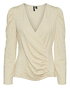 Vero Moda Ruched Wrap Top