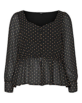 Vero Moda Spot Button Up Blouse