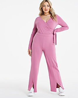 Little Mistress Plus exclusive split front wide leg trouser