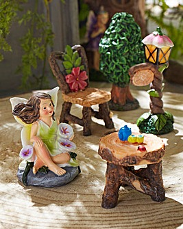 Fairy Garden 5-Piece Miniature Set