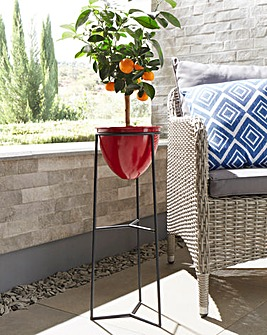 Free-Standing Metal Flower Pot