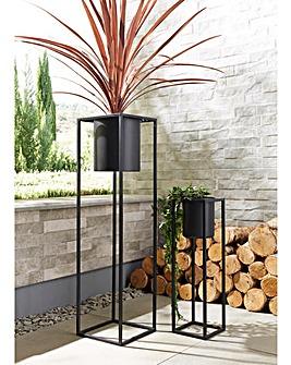 Free-Standing Set of 2 Flower Pots
