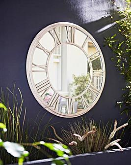 Roman Numerals Garden Mirror