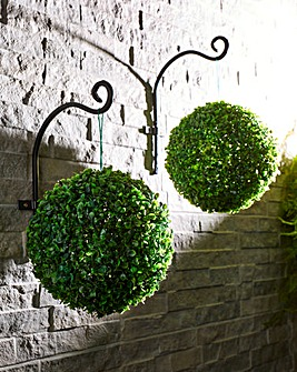 Hanging Topiary with Solar LED Lights