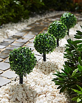 Set 4 Solar LED Topiary Path Finders