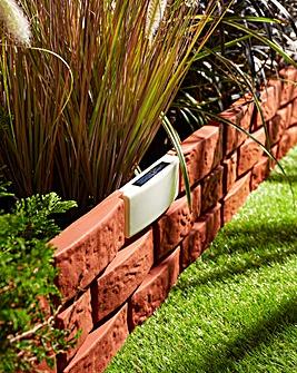 Solar Plastic Brick Fence Pack 4