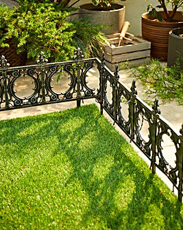 Garden Fence with Solar Lights Pack 4