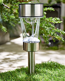 Rotating Solar Stake Light