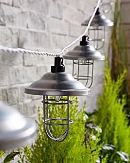 Set 10 Solar Copper Lantern Lights
