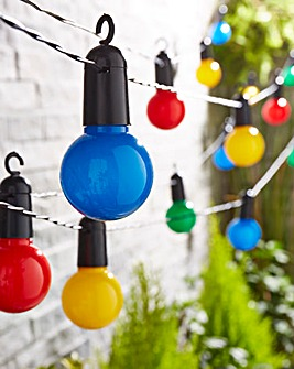 20 Solar Multicolour Garden Lightbulbs
