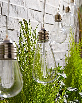 Set of 7 Solar Bulb Garden String Lights