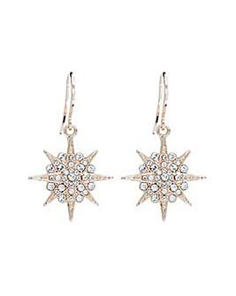 Rose Gold Plate Swarovski Star Earring