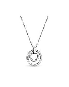Polished Double Open Textured Necklace