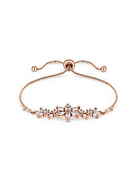Rose Gold Plated Floral Toggle Bracelet