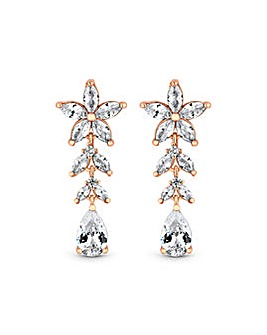 Rose Gold Plated Floral Earrings