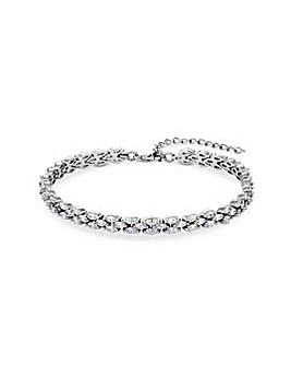 Rhodium Plated Bridal Bracelet