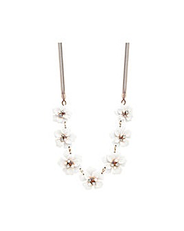 Rose Gold Plated Flower Necklace