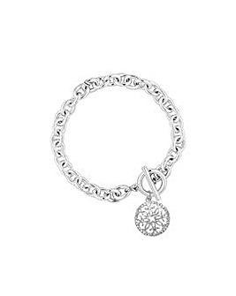 Silver Plated Charm Bracelet- Gift Boxed