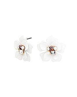 Rose Gold Plated Flower Earrings