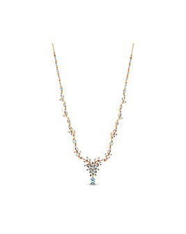 Rose Gold Plated Floral Necklace