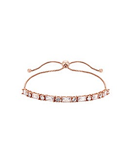 14ct Rose Gold Solitaire Bracelet