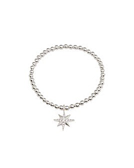 North Star Crystal Stretch Bracelet
