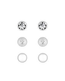 Stud Earrings - Pack of 3