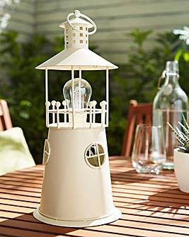NOMA Outdoor Metal Lighthouse Lantern