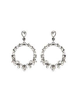 Silver Plated Pear Shape Drop Earrings