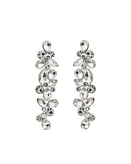 Silver Plated Pear Cluster Earrings