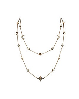 Gold Plated Pearl Celestial Necklace