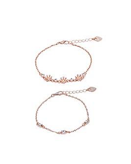 Lipsy Rose Gold win Pack Bracelet