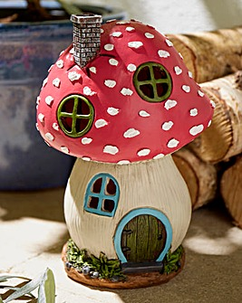 Fairy Toadstool House Garden Light