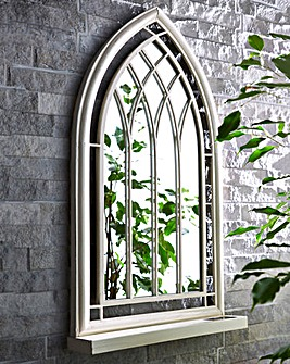 LED Church-Style Garden Mirror