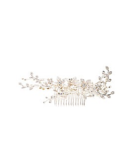 Madeline Silver Maple Leaf Spray Comb