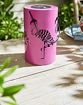 Solar Flamingo Silhouette Lantern
