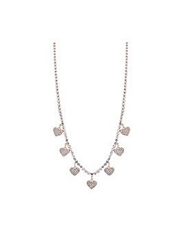 Lipsy Rose Gold Heart Charm Necklace
