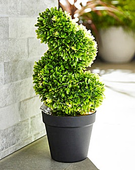 Artificial Topiary Lit Swirl Tree
