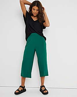Forest Green Stretch Jersey Culottes