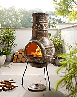 La Hacienda Maple Leaf Clay Chimenea