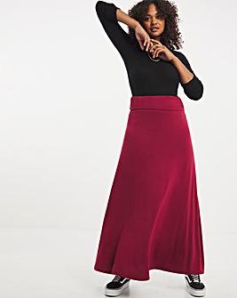 Red Jersey Stretch Skirt