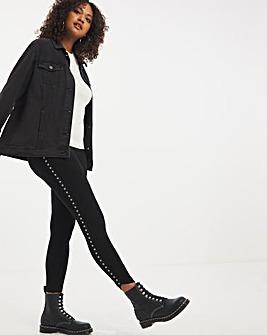 Jersey Stud Side Stripe Leggings