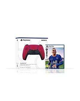 FIFA 22 PS5 and Cosmic Red Controller