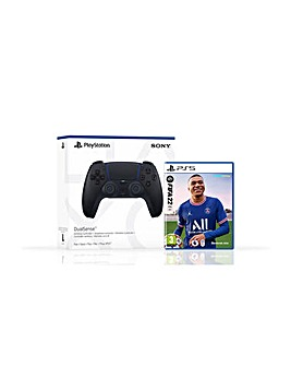 FIFA 22 PS5 and Black PS5 Controller